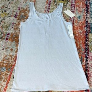 NWT Silver Sparkly Stretchy Tank Top